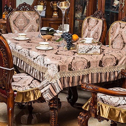 DIDIDD Hotel Tablecloth Fabric Continental Restaurant Table Linen Household Coffee Table Tablecloth Table Cloth,A,130x130cm(51x51inch) by DIDIDD