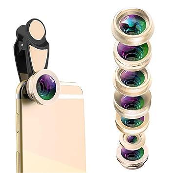 7 en 1 kit de lentes SmartPhone, lente ojo de pez + lente súper ...