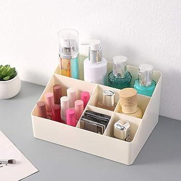 Peachy Plastic Makeup Organizer Desktop Storage Box 6 Compartments Download Free Architecture Designs Licukmadebymaigaardcom