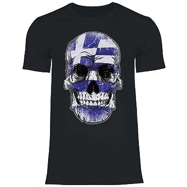 Royal Shirt df15 Herren T-Shirt Griechenland Greece Flagge   WM Em Fußball  Totenkopf Trikot  Amazon.de  Bekleidung 1bf00c0b6c