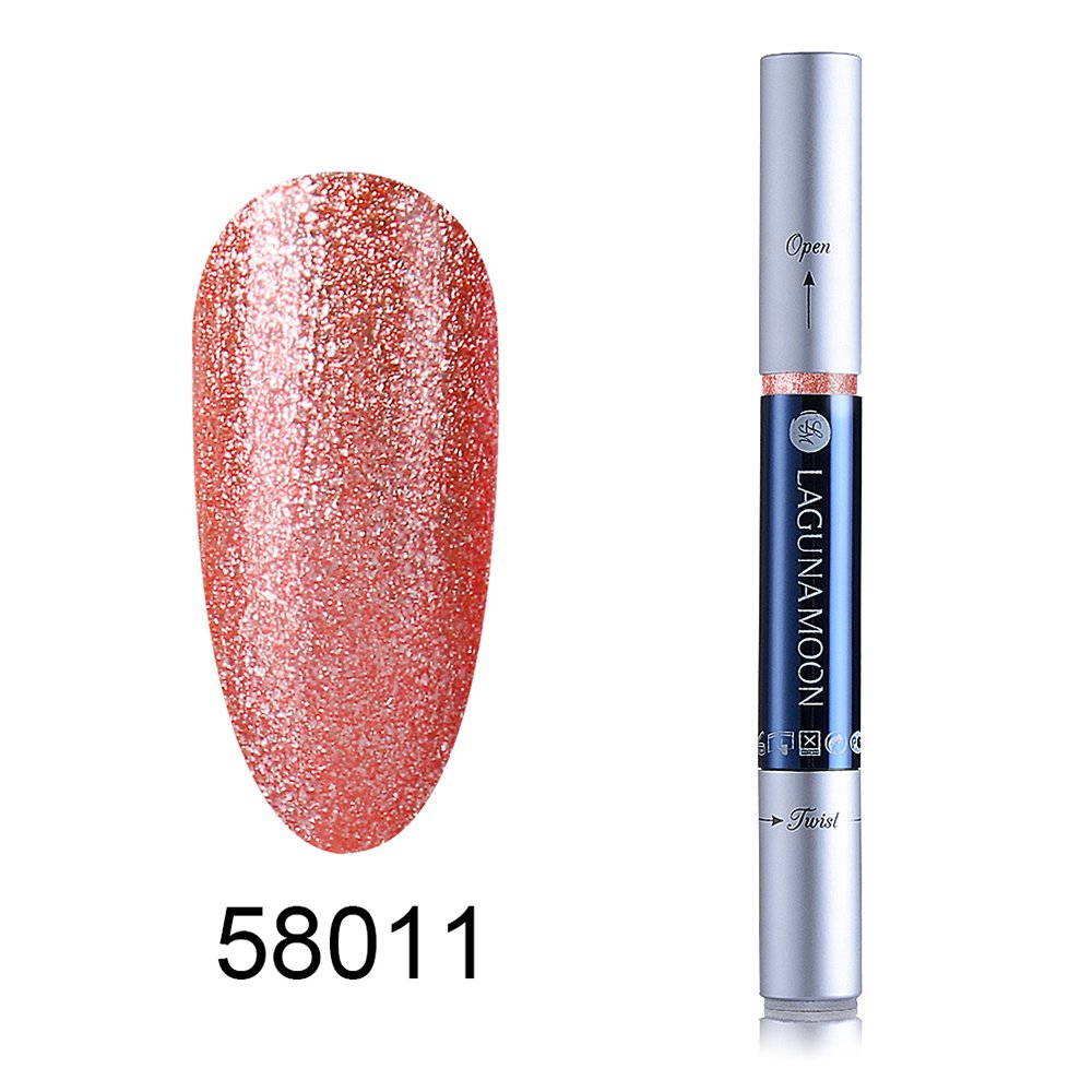 Amazon.com : Gel Nail Polish Pen, Soak Off UV LED Color Gel, Lagunamoon Gel Polish 58010 : Beauty