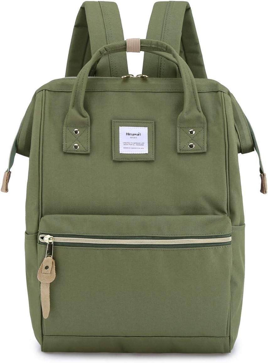 Himawari Travel Backpack Laptop Backpack Large Diaper Bag Doctor Bag Backpack School Backpack for Women&Men(xk green)