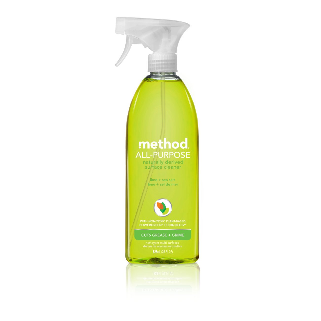 Method All Purpose Cleaner, Lime + Sea Salt, 28 Ounce (8 Count), Eco-Friendly Multi-Surface Cleaning Spray
