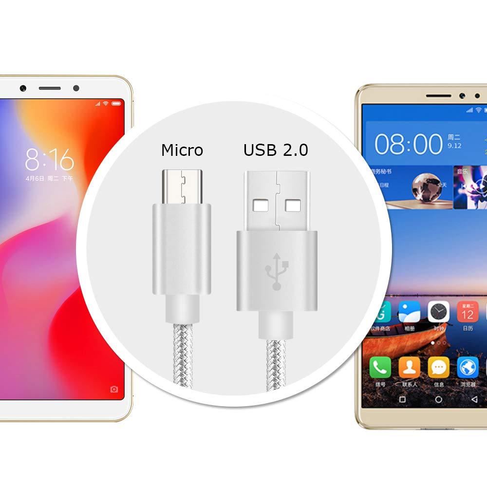 Cable Cargador micro usb Rapido para Movil LG Q6 G4 K8 K10 K4 K9 2017 X Power 2,Stylus 2 V10 X cam,Motorola Moto G4 G5 G5S E4 E5 Plus,BQ Aquaris V/V ...