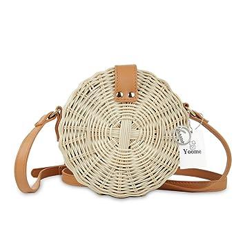 Yoome Bolsa de ratán, Tejido a Mano, Bolso de Bandolera para Mujer, Bolso de Pajita, Bolsa de Playa: Amazon.es: Productos para mascotas