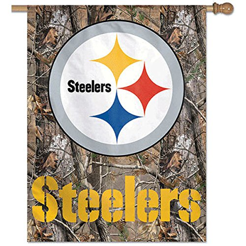WinCraft NFL Pittsburgh Steelers 83307010 Vertical Flag, Small, Black