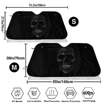 Amazon.com: Front Car Sunshade Windshield Dark Skull Sun ...