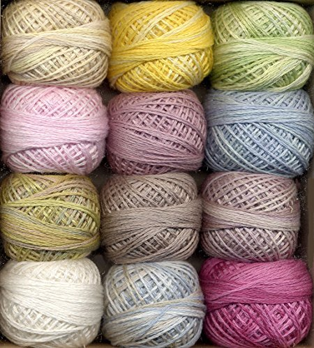 Valdani 3-Strand Cotton Embroidery Floss 12-Ball Sugar Candy Collection (3SF-SugarC)