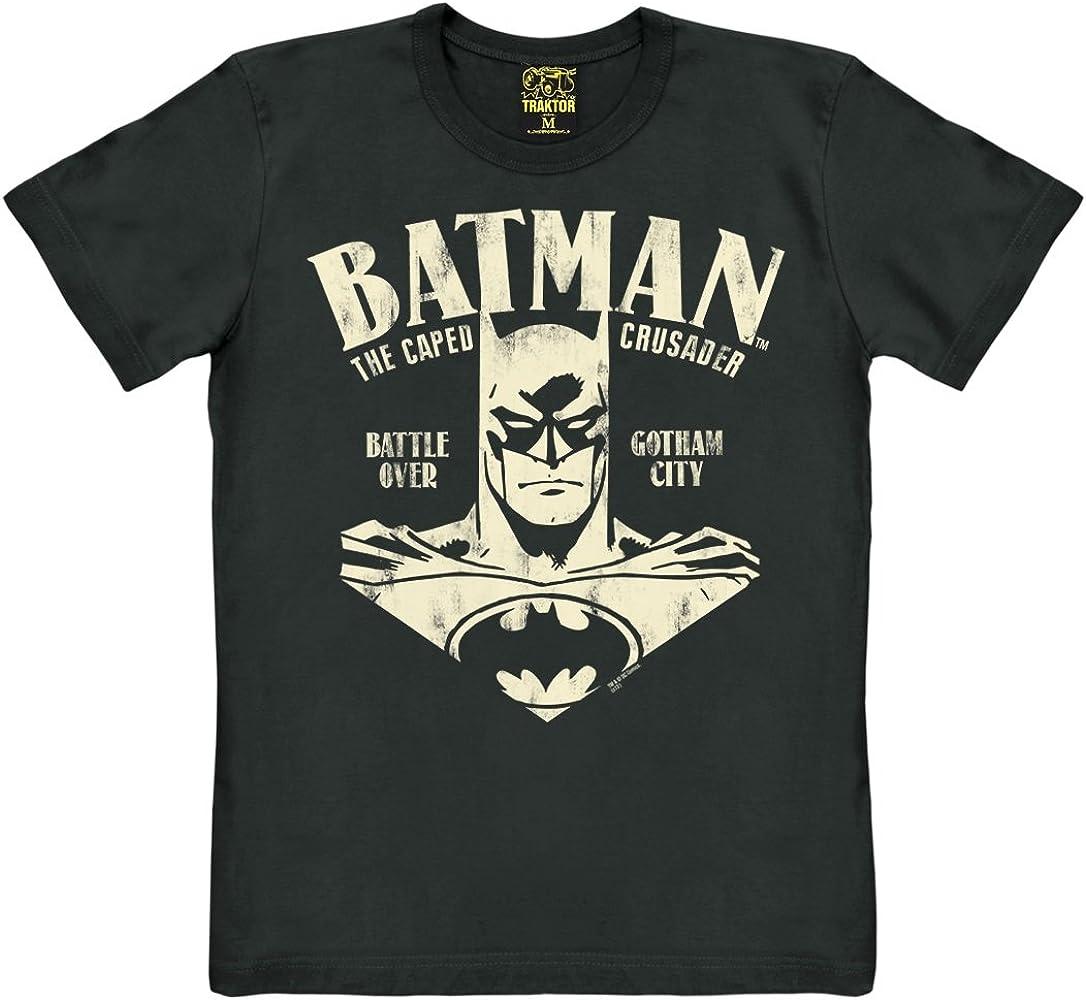 TRAKTOR Camiseta Batman - El Retrato - Camiseta de DC Comics - Batman - Portrait - Camiseta con Cuello Redondo - Negro - Camiseta Original de la Marca, Talla XS: Amazon.es: Ropa y accesorios