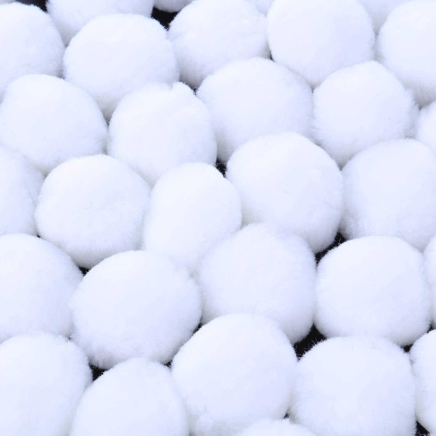 20 Pieces 2 Inch Acrylic Pom Poms Large White Halloween Pom Poms Tinkerbell Costume Accessory for DIY Craft Halloween Costume