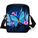 HUGS IDEA Butterfly Printed Small Crossbody Bags Shoulder Handbag Cell Phone Purse Wallet Bag for Women Girl