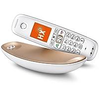 Gigaset CL750HX Sculpture Telefon - Schnurlostelefon / Mobilteil - mit TFT Farbdisplay / IP Telefon - VoIP - kompatibel CATiq / Router - weiß