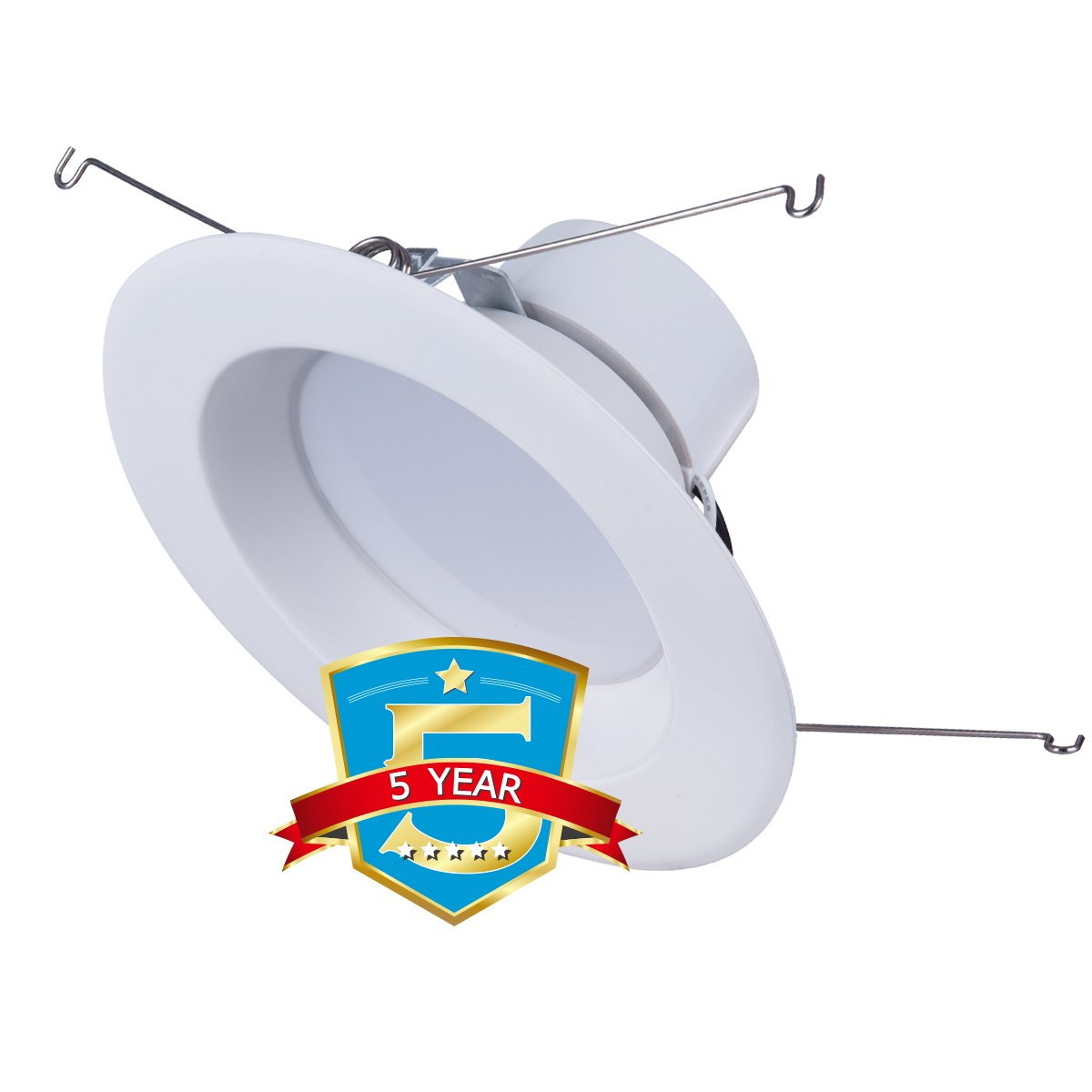 JJC Downlights Retrofit LED Recessed Lighting 5/6 Inch Dimmable 5000K 18W(90W Equiv.)1200LM,Energy Star ETL-Listed