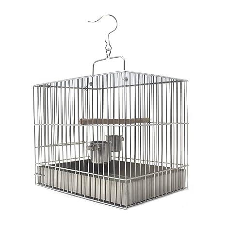 Jaula Para loro Jaula de pájaros de acero inoxidable Jaula de baño ...
