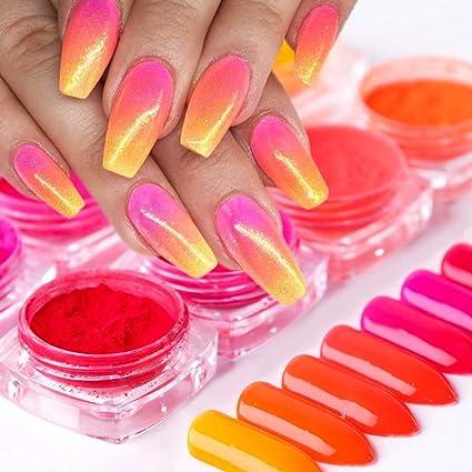 Polvo Onkessy Uso multipropósito Tinte Tinte Brillo de uñas ...