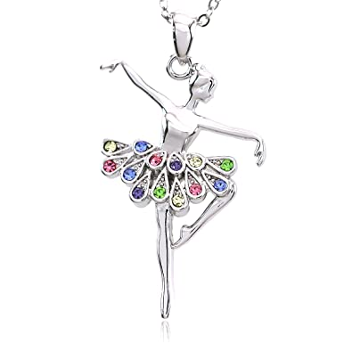 Amazon soulbreezecollection multi color dancing ballerina soulbreezecollection multi color dancing ballerina dancer ballet pendant necklace mozeypictures Image collections