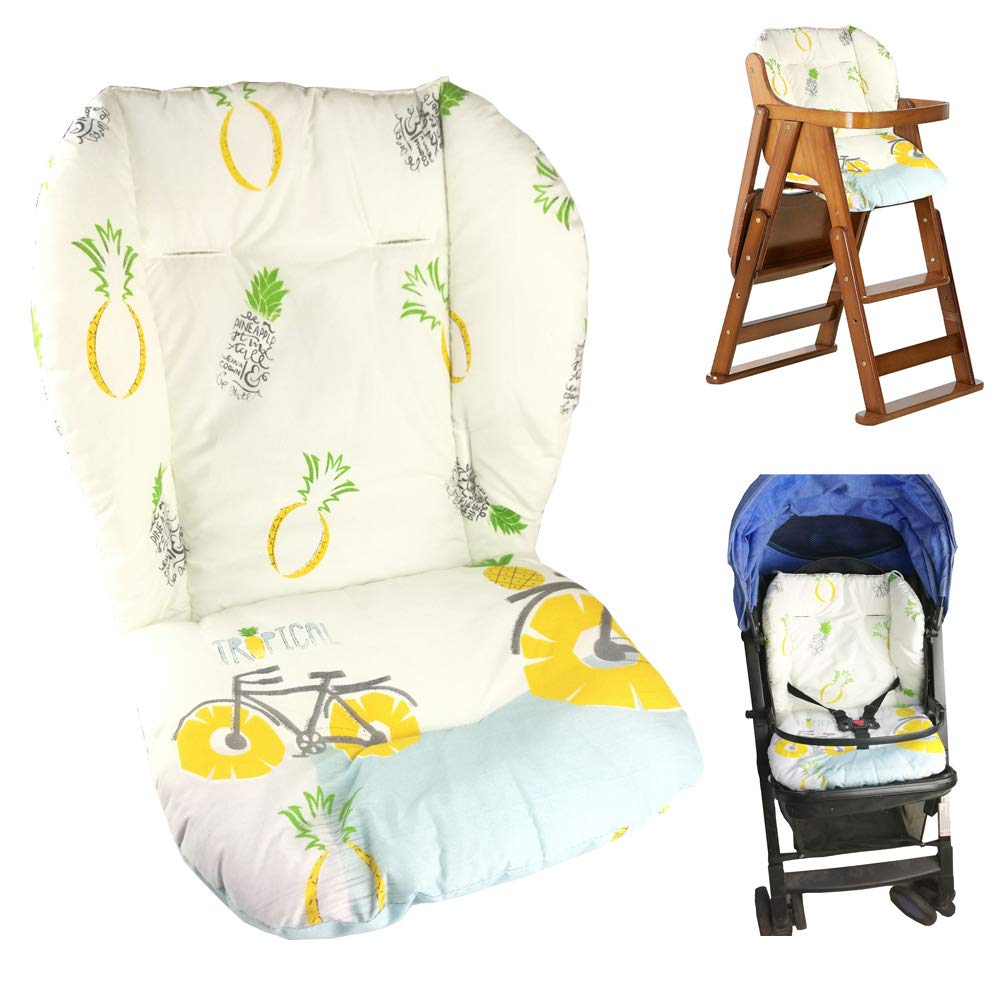 Baby Stroller/Car / High Chair Seat Cushion Liner Mat Pad Cover Protector Breathable(Pineapple Pattern) Yworld