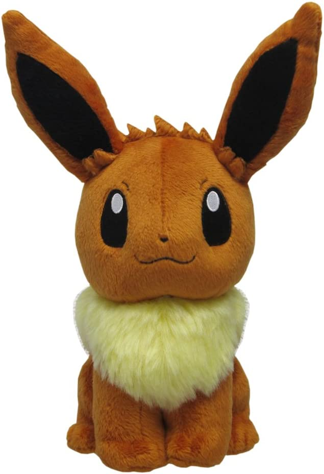 Sanei Pokemon All Star Series Eevee Stuffed Plush, 8