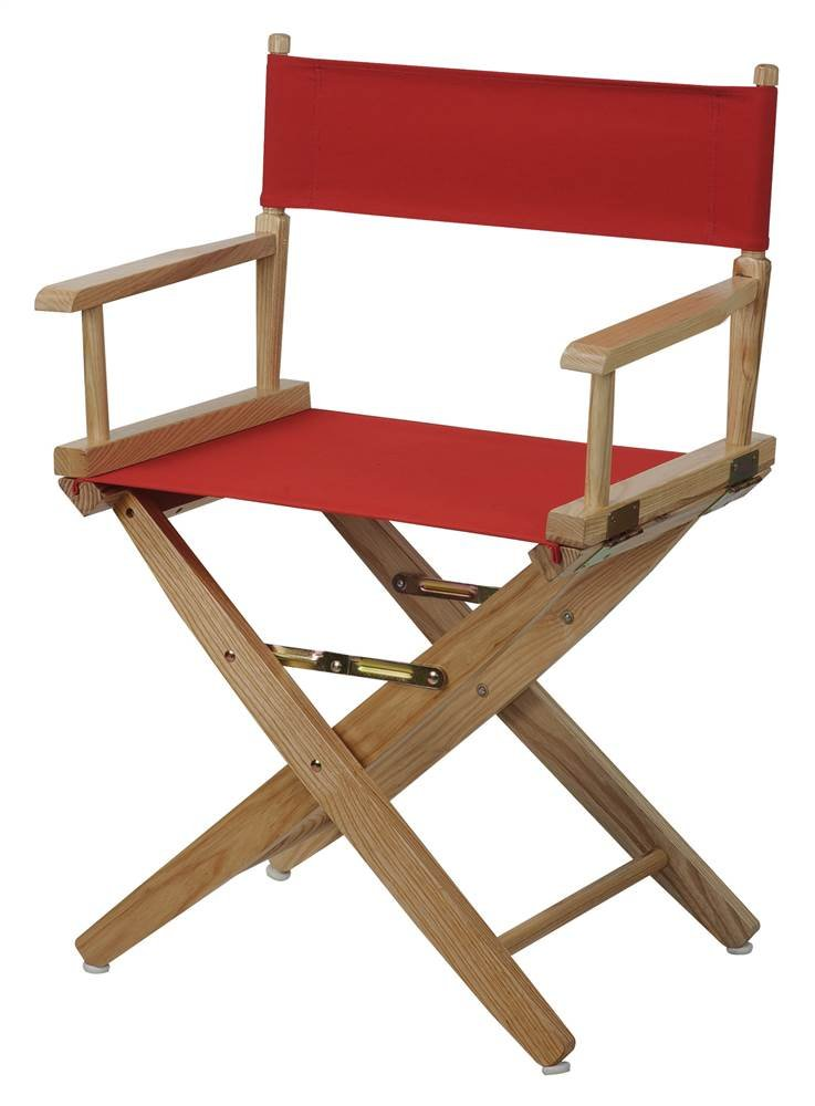 Premium Director Chair with Red Canvas