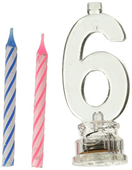 Amazon Party Numbers Light Up Candle Holder 6 Toys Games