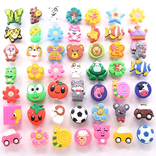 Vita Hardware Cute Children's Bedroom Cartoon Cabinet Drawer Dresser Knob Pull Handle pack of 10 (Random 10PCS)