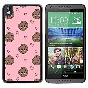 TaiTech / Hard Protective Case Cover - Face Smiley Sweet Pink - HTC DESIRE 816 by ruishername