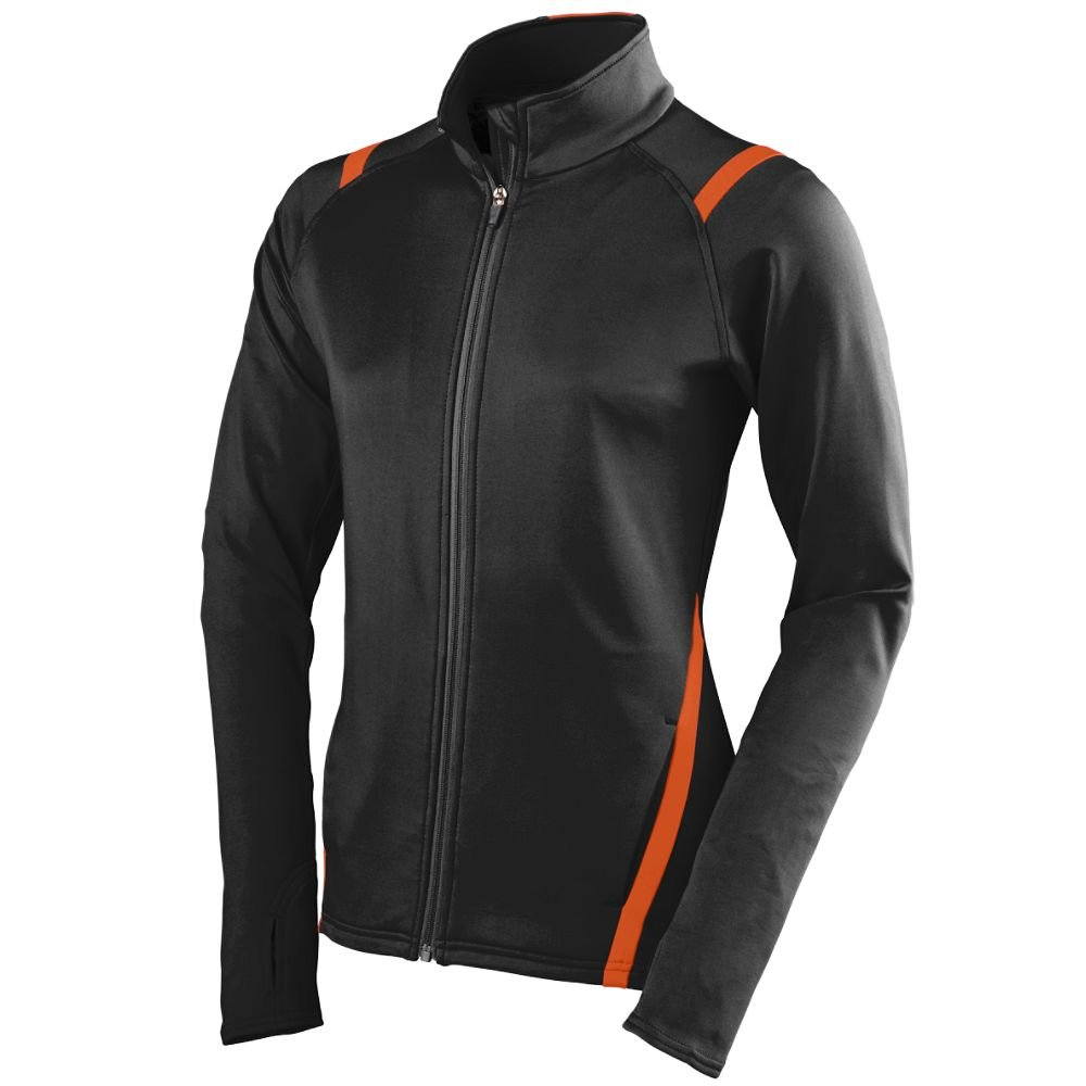Augusta Sportswear Women's Freedom Jacket, Black/Orange, Small