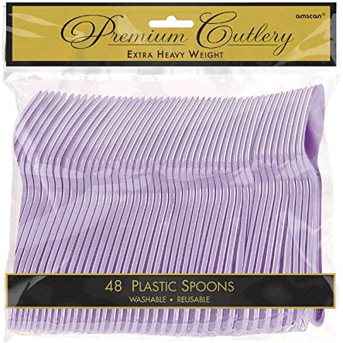 Amscan 8011.04 Premium Heavy Weight disposable-spoons, 9 x 9.2, Lavender
