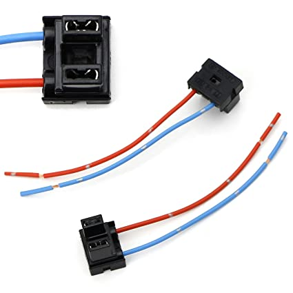 Amazon.com: iJDMTOY (2) OEM H7 Adapters Wiring Harness ...