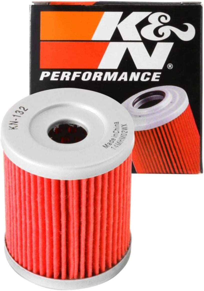 K&N Motorcycle Oil Filter: High Performance, Premium, Designed to be used with Synthetic or Conventional Oils: Fits Select Suzuki, Arctic Cat, Kawasaki Vehicles, KN-132: Automotive