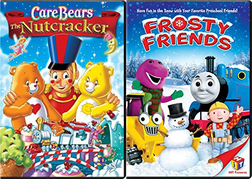 Care Bears The Nutcracker & Frosty Friends Thomas the Train / Barney &Bob the Builder Double Feature Animated cartoon Holiday 2-pack (Christmas Carol Ducktales)