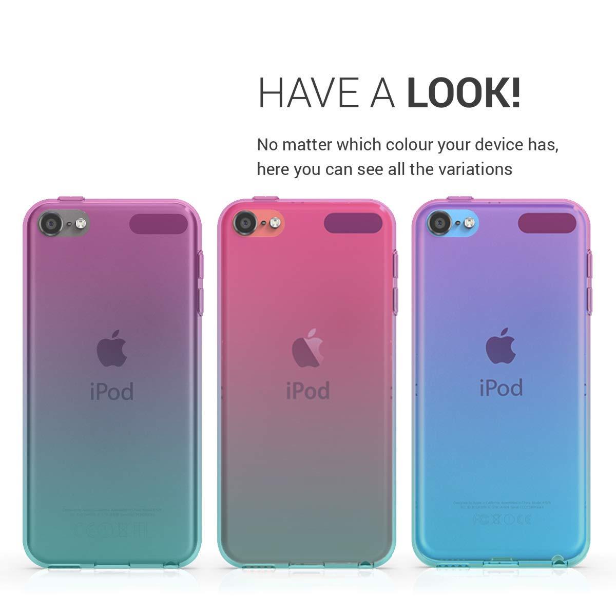 kwmobile Apple iPod Touch 6G // 7G H/ülle - Handy Case in Zwei Farben Design Pink Blau Transparent 6. und 7.Generation Handyh/ülle f/ür Apple iPod Touch 6G // 7G 6. und 7.Generation