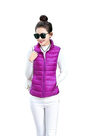 f3a3401b1c5d Col Amazon Doudoune Manches Gilet Jacket Montant Sans Quibine Femme HqTXwX
