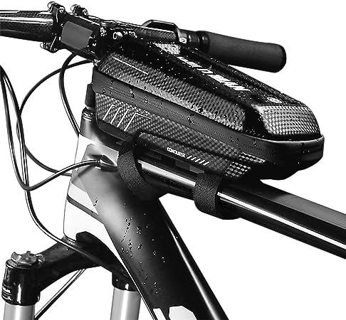 Lixada Wild Man E5 PU Bolsa de Cuadro de Tubo Superior de Bicicleta a Prueba de Lluvia Impermeable Paquete de Tubo con Diseño de Doble Cremallera MTB ...