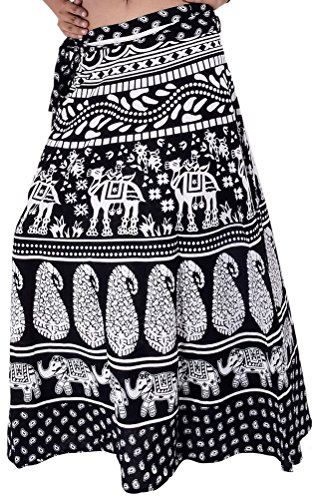 Wevez Pack of 3 Pcs Cotton Long Wrap Around Skirts