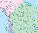CoolOwlMaps North America Continent Wall Map Poster - Rolled