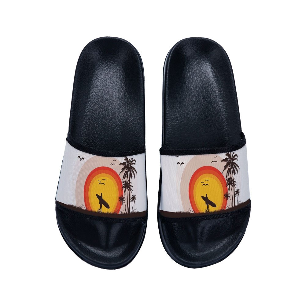 Ron Kite Boys Girls Slide Sandals Anti-Slip Stylish Beach Sandals Shower Shoes(Little Kid/Big Kid)