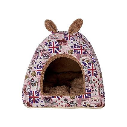 Shuda Cama para Mascotas Cama para Perro Gato Plegable Conejo Mascota Cálido Nido Cueva Sofá Casa