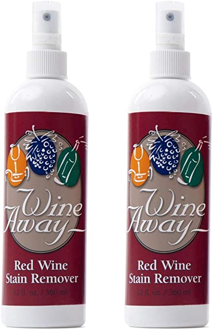 Wine Away Red Wine Stain Remover Perfect Fabric Upholstery And Carpet Cleaner Spray Solution Removes Wine Spots Spray And Wash Laundry To Vanish Stain Wine Out