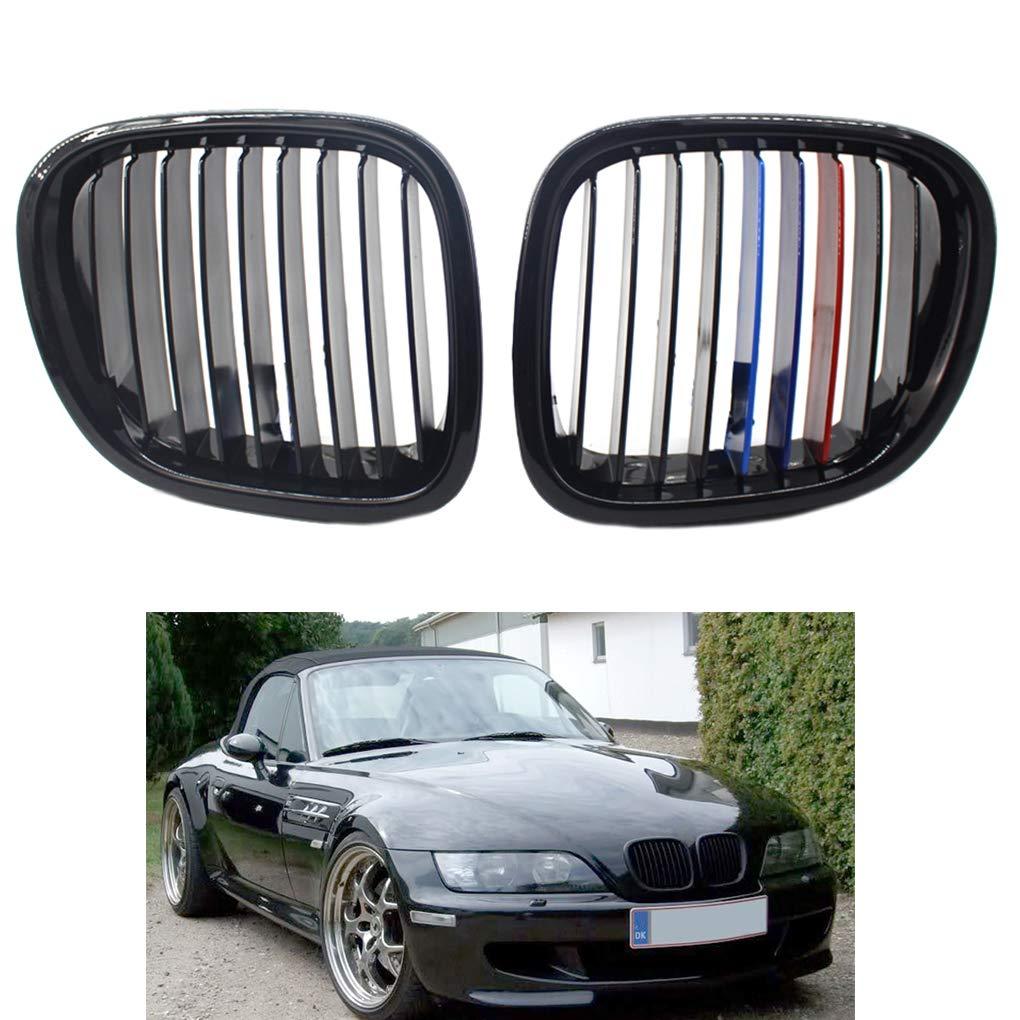 Republe di Ricambio per BMW Z3 Tipo 1996-2002 Car 1 Coppia Anteriore griglia Nero Sinistra Destra Side Grille 51.138.412,95 Mila 51.138.412,949 Mila