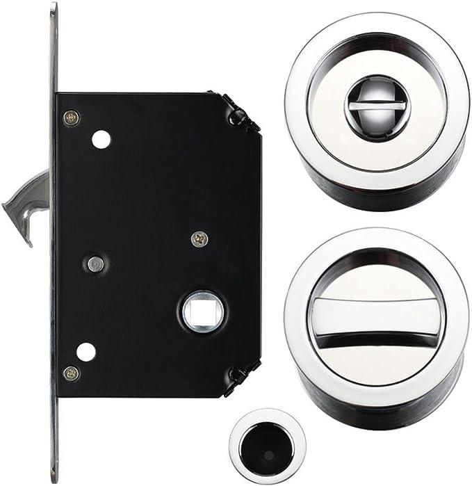 Puerta corredera de bolsillo baño Privacidad Lock Set: Amazon.es ...