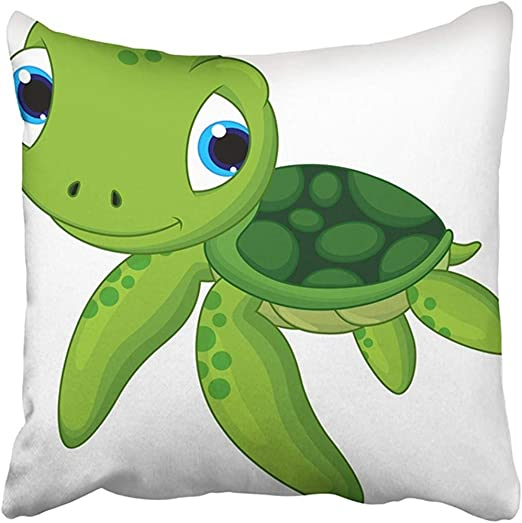 Amazon Com Throw Pillow Cover Polyester 18x18 Inches Green Cute