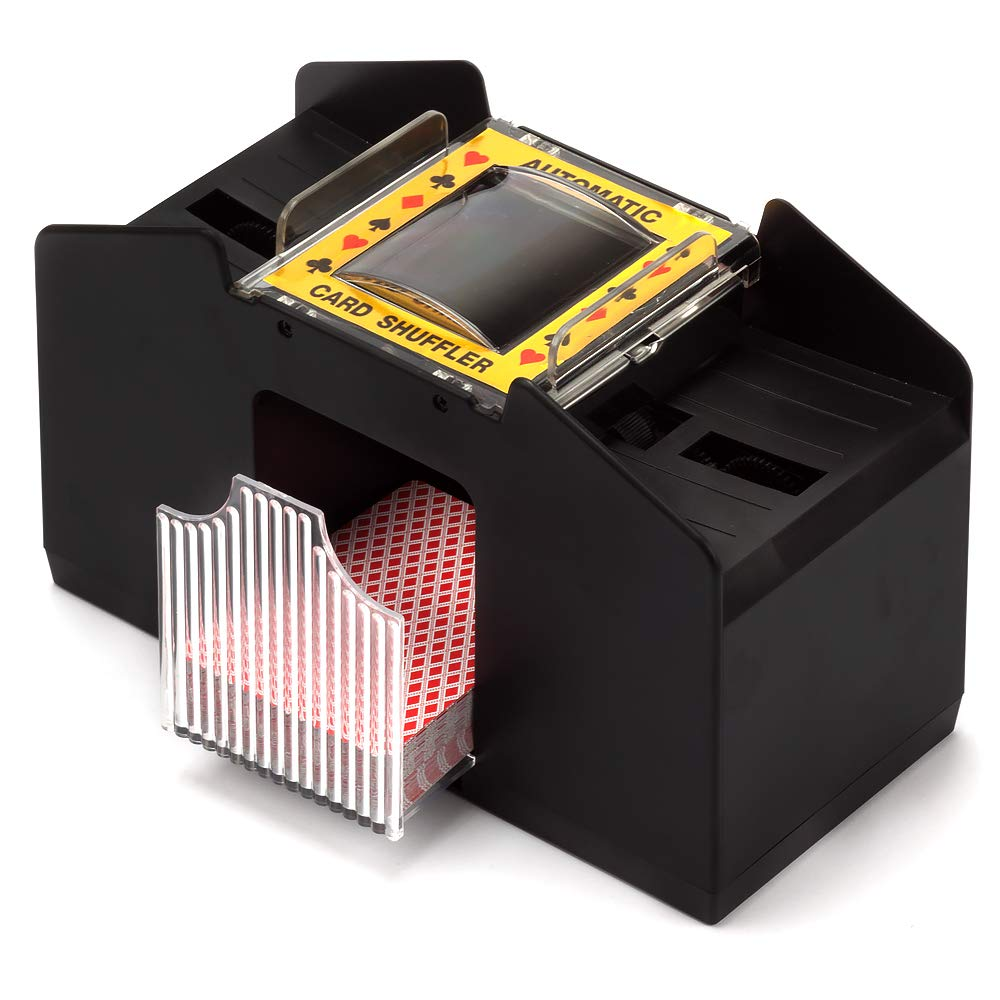 6 Deck GSE Games /& Sports Expert 2 Deck, 4 Deck, 6 Deck Plastic - 2 Deck Casino Automatic Card Shuffler for Poker Games