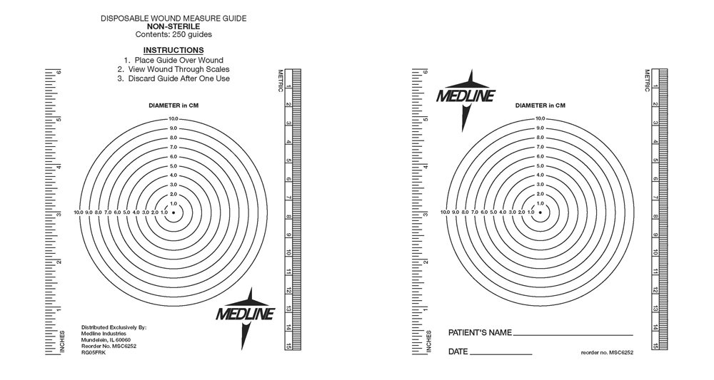 Medline MSC6252 Wound Measuring Bullseye (Pack of 250)