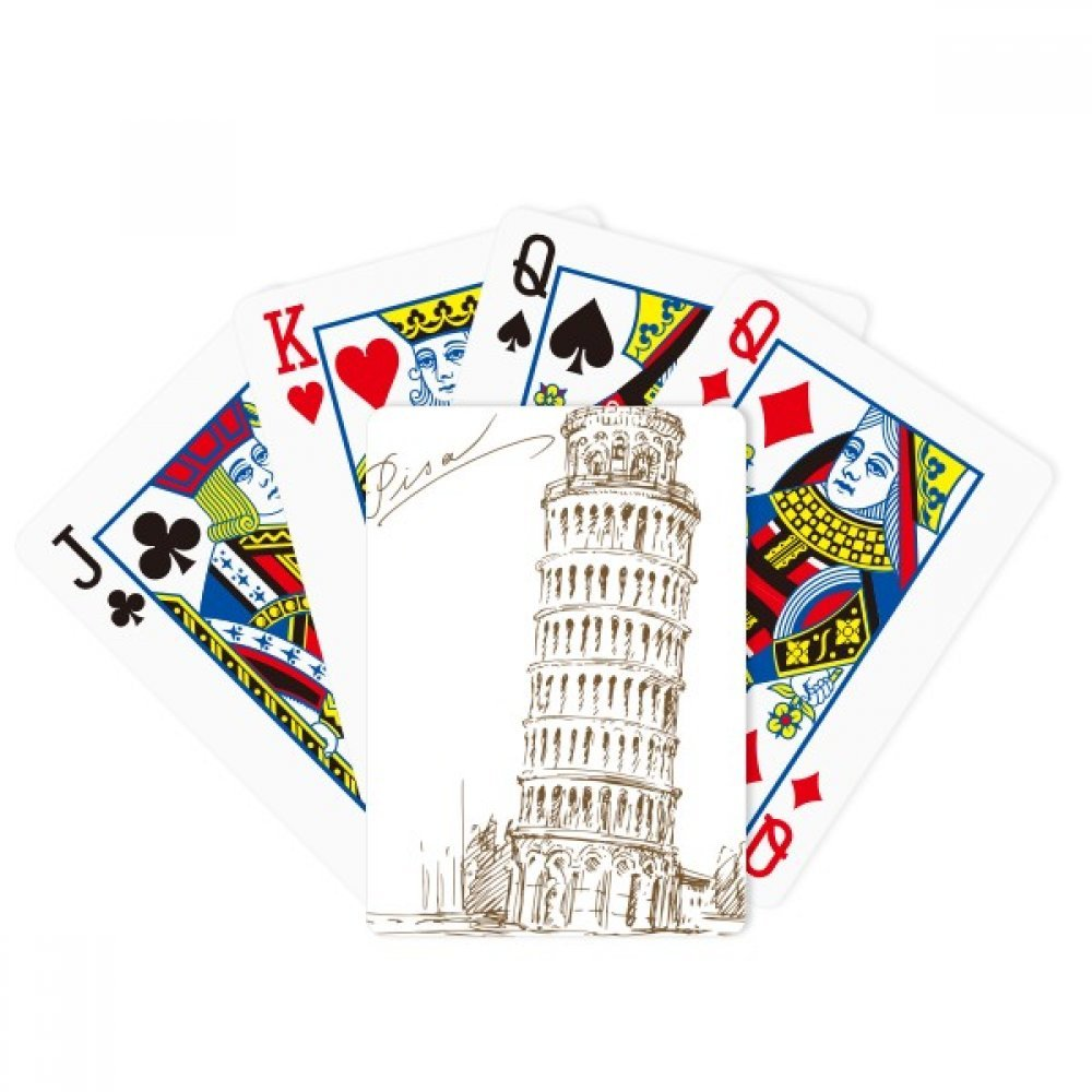 Leaning Tower of Pisa Italy Pisa Poker Playing Cards Tabletop Game Gift