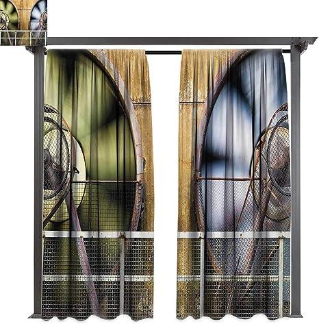 Bybyhome - Cortina de jardín para exteriores, herramientas industriales gruesas en una tabla de madera, reparación manual de fabricación en taller, apto para porche frontal, pergola, cabana, patio cubierto: Amazon.es: Jardín