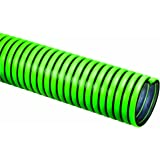 Tigerflex TG Series EPDM Tiger Green Suction Hose with Polyethylene Helix, 50 PSI Max Pressure, 2 inches ID, 100 feet Length