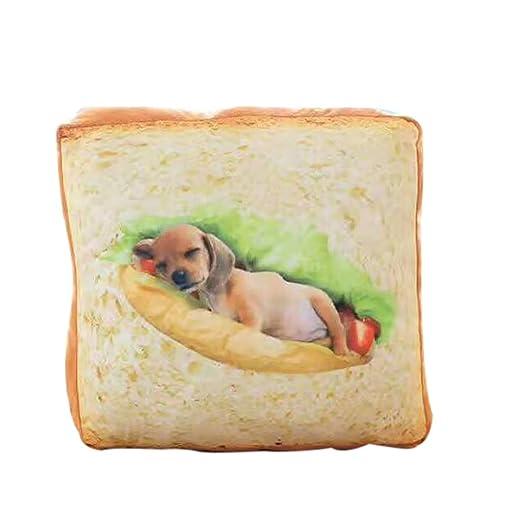 Colchoneta Forma de Pan de Mascota Suave Cama Favorita de ...