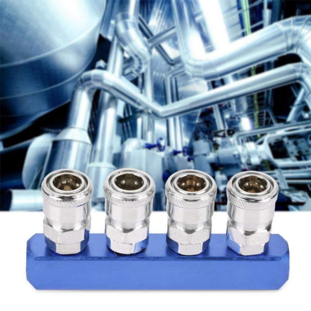 Hilitand Conector neum/ático de 12 mm roscas Hembra de Ajuste r/ápido para la Manguera de Aire Que Conecta PT1 2 Way 4 2//3//4//5 Forma