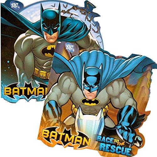 DC Comics Batman Shaped Board Book Set with Stickers (4 Books)